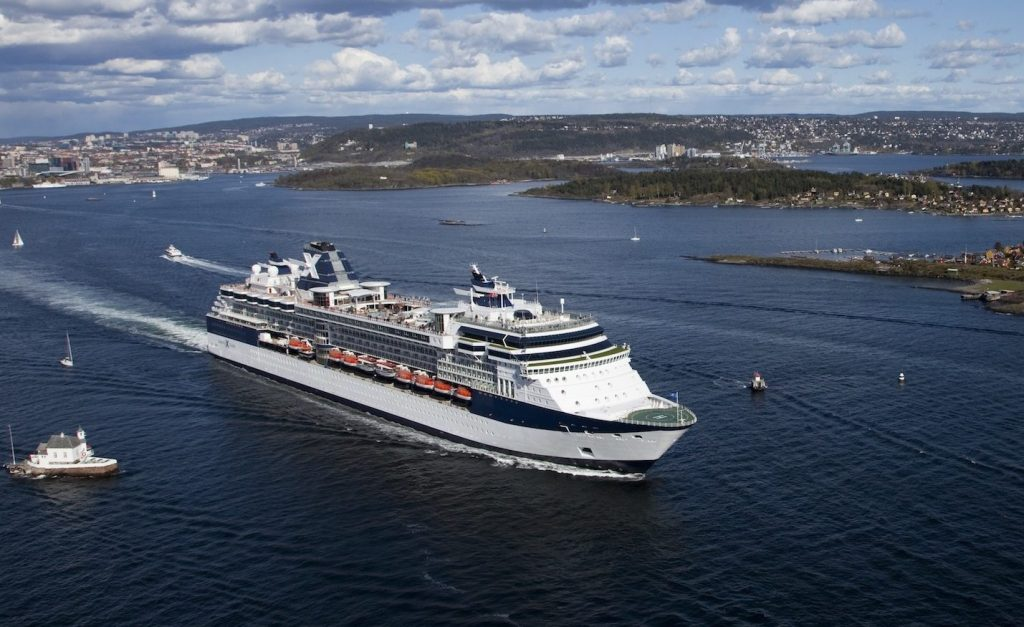 Celebrity Constellation, CS, Refurbishment, Aerial of exterior of ship