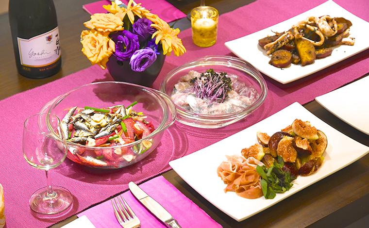 簡単な料理だからこそ、色のコントラストを意識するとごちそう風に