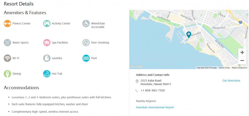 リゾート情報の充実