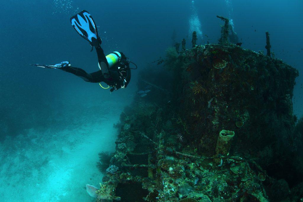 難破船を探索するアドベンチャーへ