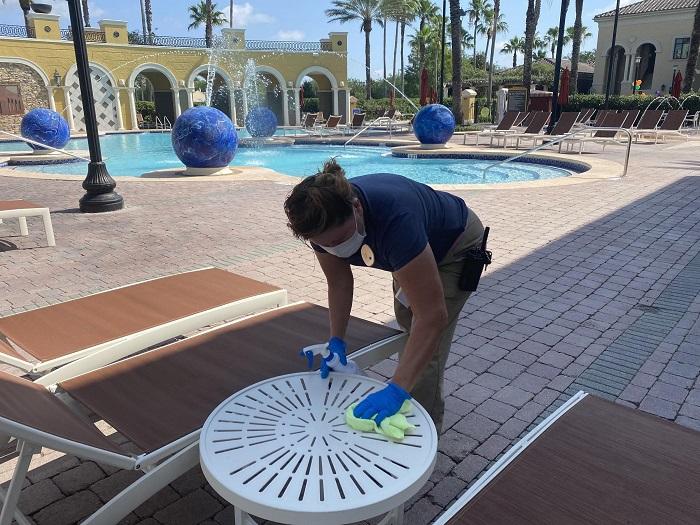 リゾートの各所で徹底した清掃を実施しています。